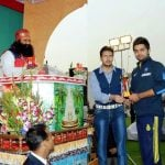 Gurmeet Ram Rahim With His Son Jasmeet Singh Insan (Centre) And Virat Kohli