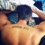 Parmish Verma back tattoo