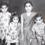 Aasif Sheikh childhood pic with his mother and sisters