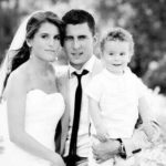 Eden Hazard with his wife and son Yannis