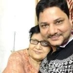 Ravi Gossain with his mother