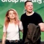 Elon Musk With His Ex-Girlfriend, Amber Heard