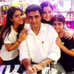 Pranutan Bahl with her parents and sister Krishaa Bahl
