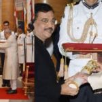 Ujjwal Nikam receiving Padma Shri