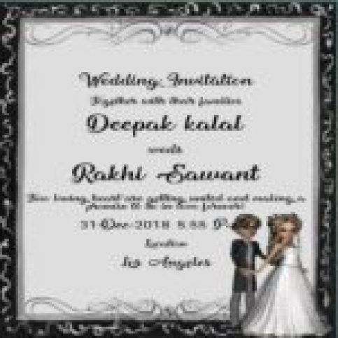 Deepak Kalal And Deepak Kalal Wedding Card