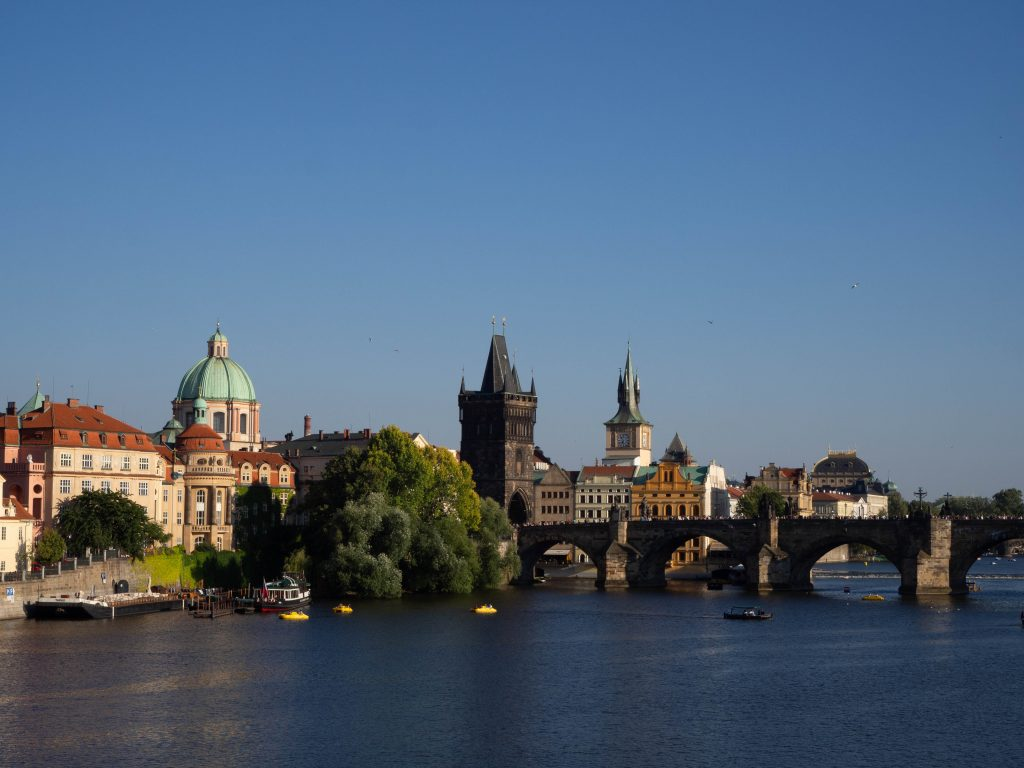 Prague view Charles bridge