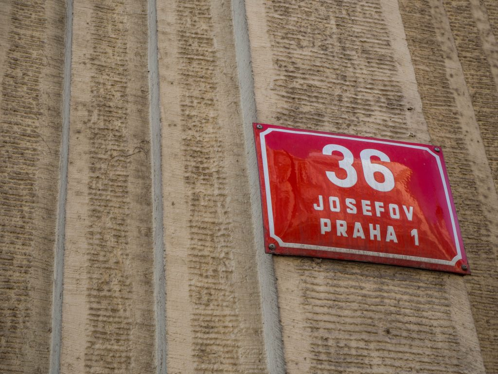 Josefov Praha sign