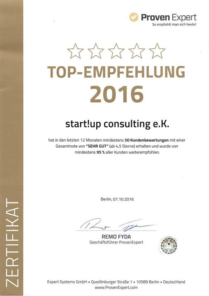 Referenzen - Top Empfehlung 2016