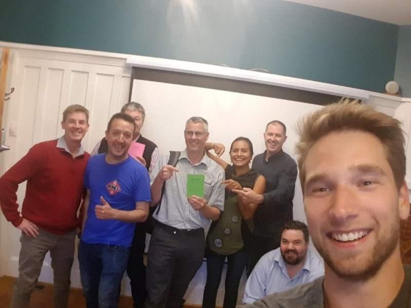 Een Start2Bitcoin workshop in Nieuw-Zeeland over het Lightning netwerk