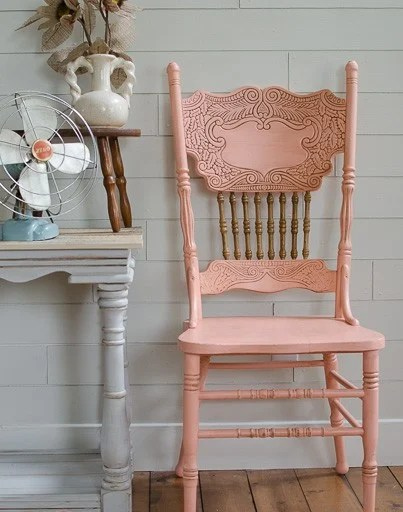 at home chairs gray parsons chair coral pressed back start decor