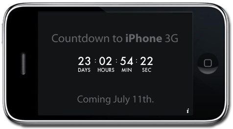 Countdown to iPhone 3G