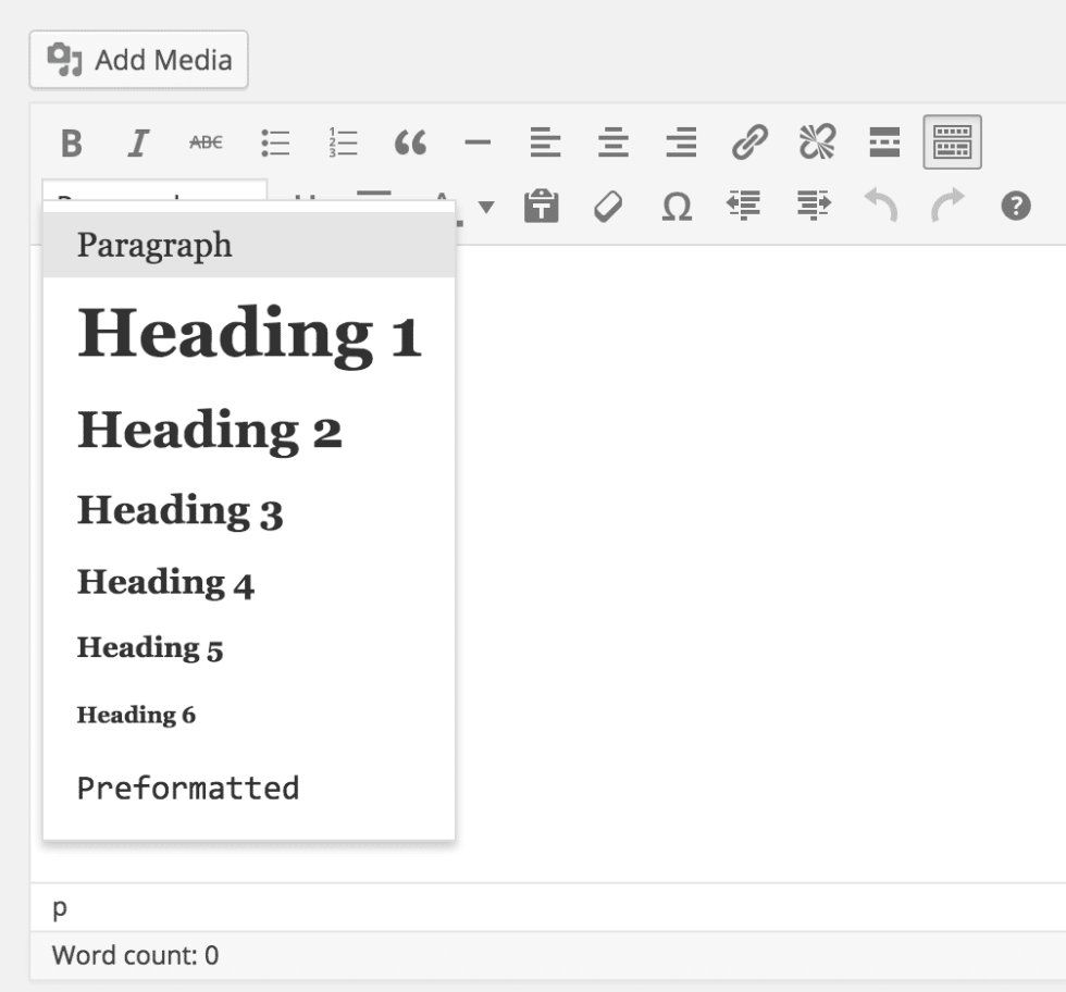 Adding blog post headings