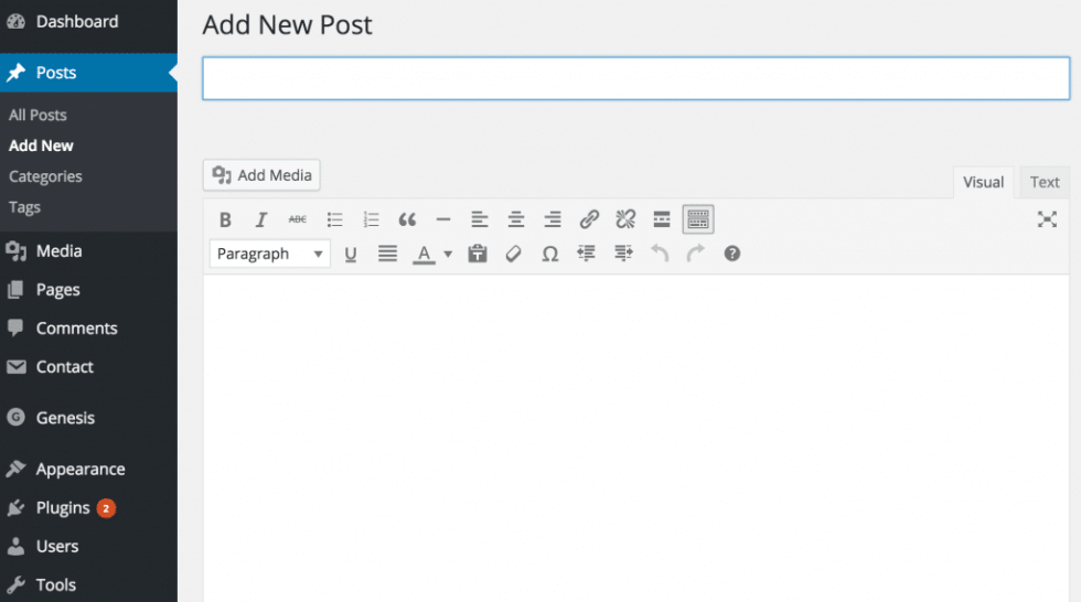 Writing new blog post