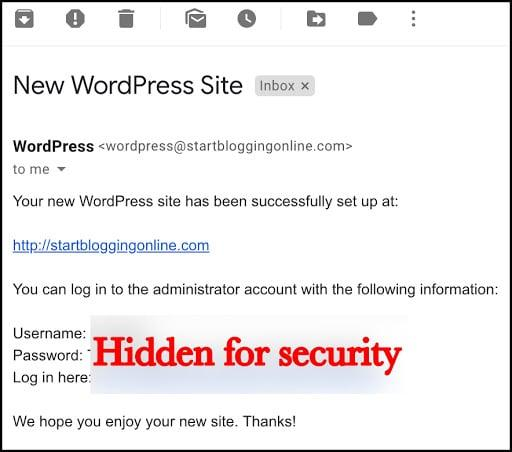 WordPress confirmation email