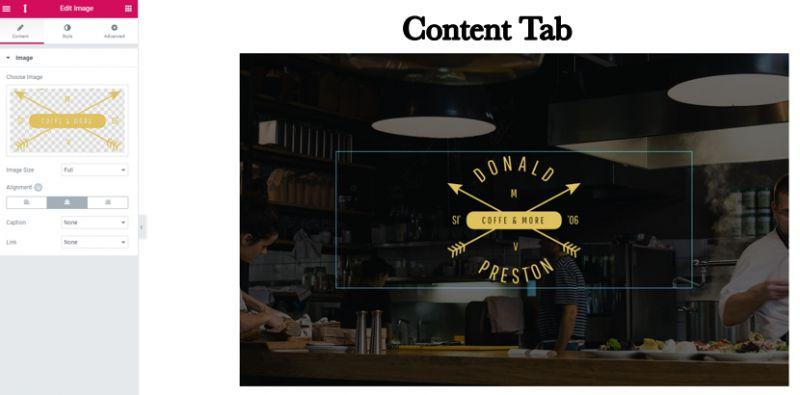 content tab