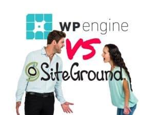 WPEngine vs SiteGround hosting