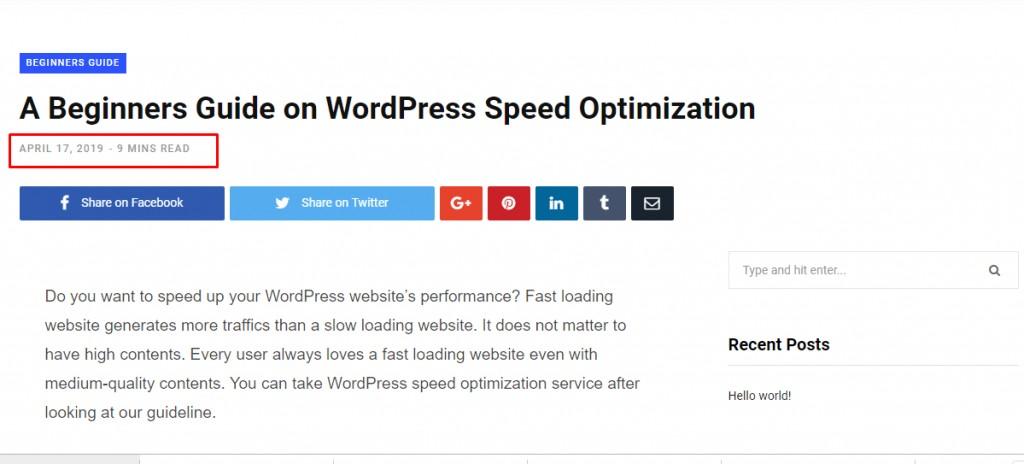 page vs post wordpress - wordpress post