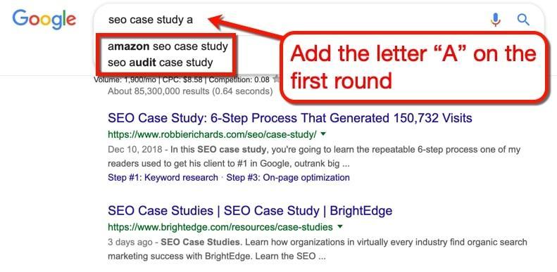 Alphabet soup keyword research