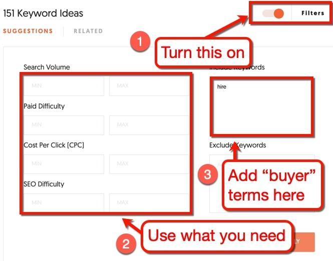 Keyword ideas for your business