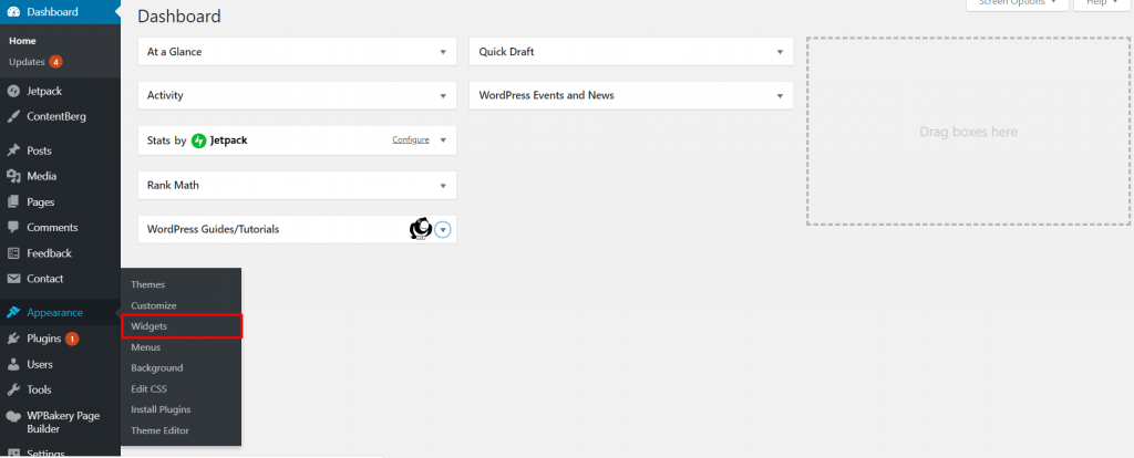 widgets in WordPress