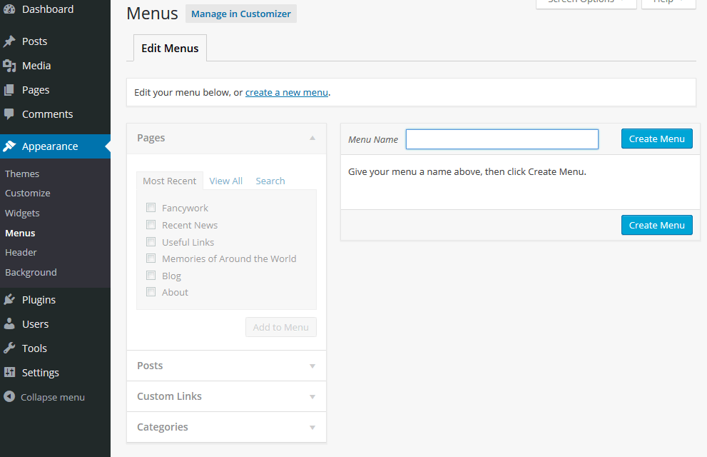 wordpress-menus