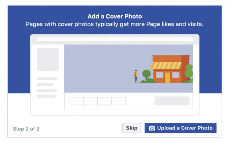 How to add a Facebook cover photo
