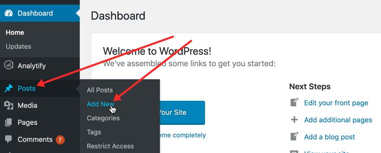 How to post on a WordPress blog