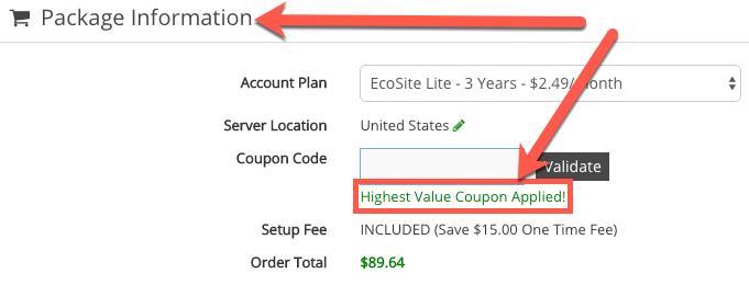 Highest value GreenGeeks voucher