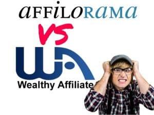 Wealthy Affiliate vs Affilorama marketing training