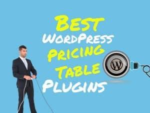Best WordPress pricing table plugins
