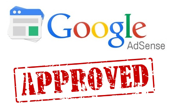 A picture showing 'Google Adsense Approved' badge.