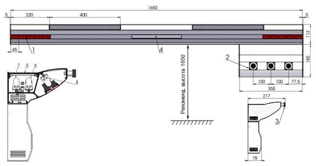 консоль медицинского газоснабжения реанимационная rn07-dn1
