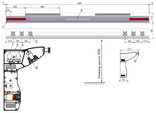 Консоль медицинского газоснабжения реанимационная rn07-dn2