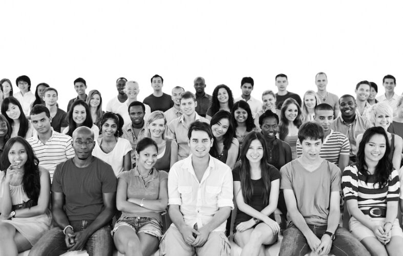 Large group of diverse people