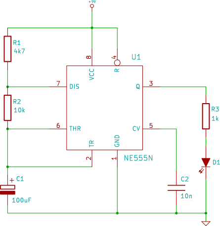 led wiring diagram 9v what is the use of venn 555 circuit for 1 flasher free you tutorial 5 electronic rh startingelectronics org timer 3