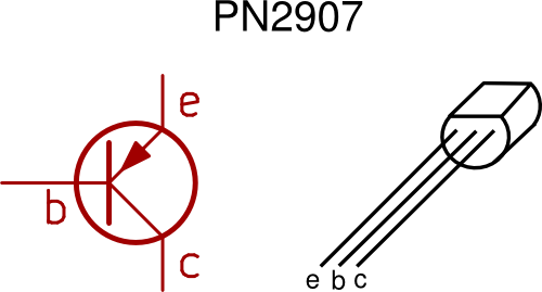 two new symbols are introduced in this circuit diagram the pnp