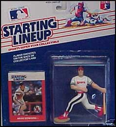 Loose With Card 1988 BRIAN DOWNING Starting Lineup SLU CALIFORNIA ANGELS