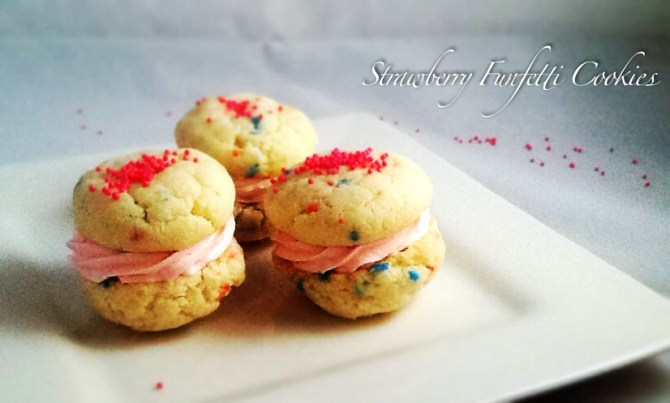 Strawberry Funfetti Cookies