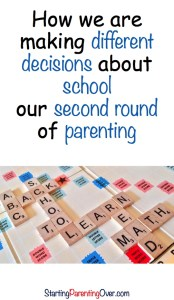 When it comes to school, we've tried it all! Find out the two main things we are doing differently as we parent our second set of children.