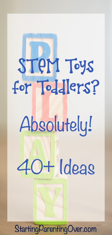 Did you know there are STEM toys for toddlers? Yep! They are some of the best educational toys for toddlers, teaching little ones the basics of science, tech, engineering, and math.