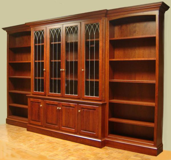 Built in Bookcases with Glass Doors