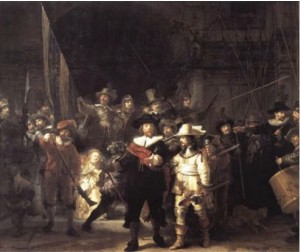 Night Watch, Oil on canvas, Rembrandt