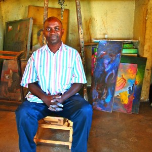 George Kyeyune at his home studio, 2010.