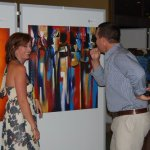 Art exhibition at Serena Hotel, 2010.