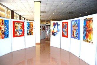 Art exhibition at Serena Hotel, 2010.