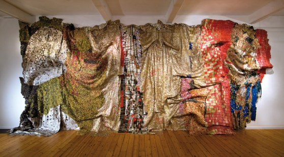 Gravity and Grace, El Anatsui  Image: http://www.octobergallery.co.uk/
