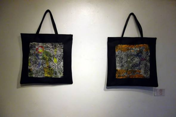 Bags with abstract motifs