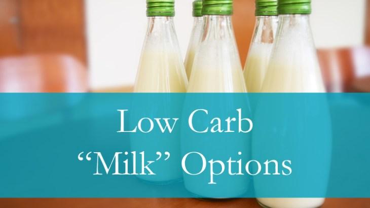 Low Carb Milk Substitutes
