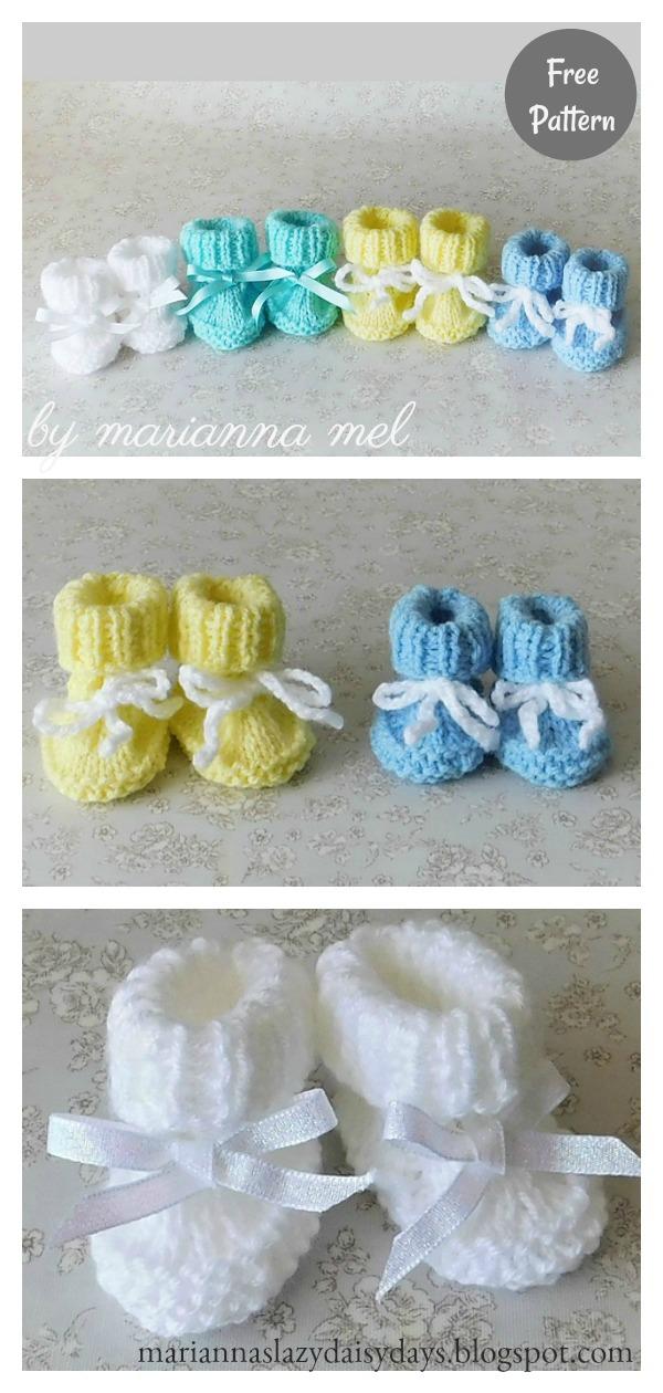 Preemie Booties : preemie, booties, Preemie, Booties, Knitting, Pattern