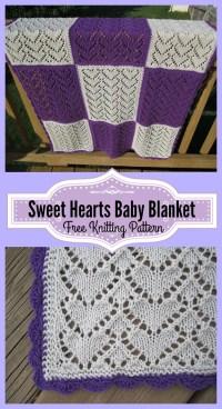 Sweet Hearts Baby Blanket Free Knitting Pattern